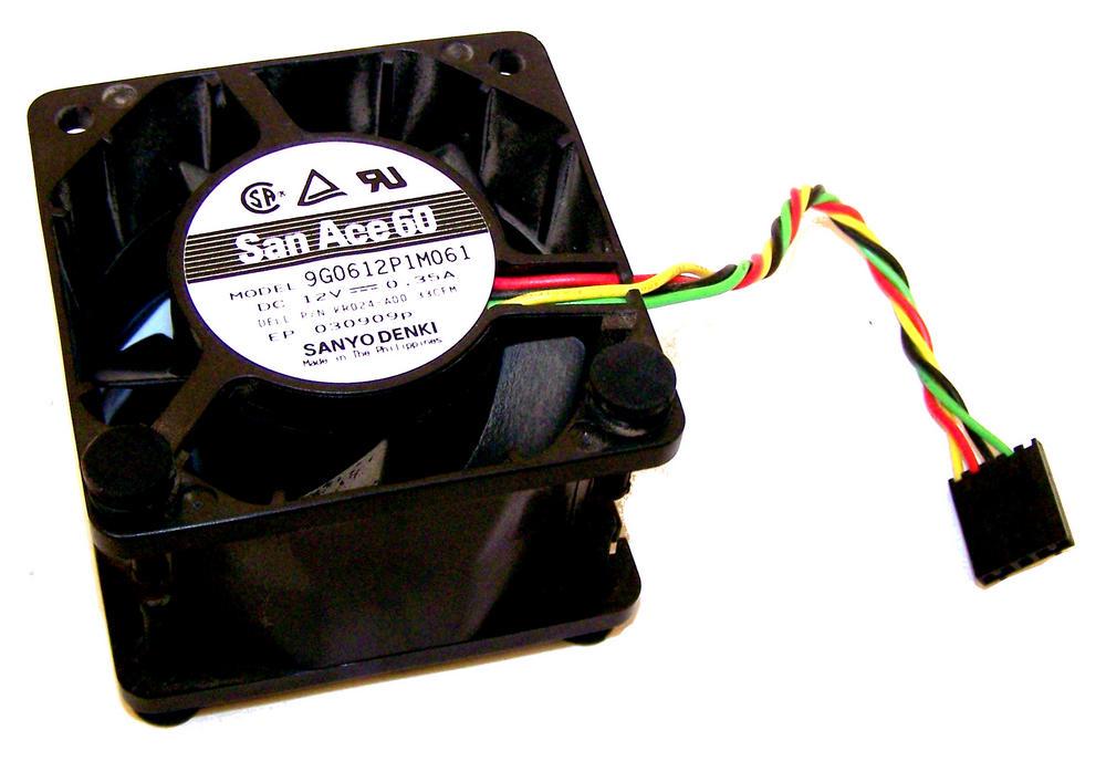 Dell KR024 OptiPlex 760 USFF Fan | San Ace 60 Model 9G0612P1M061