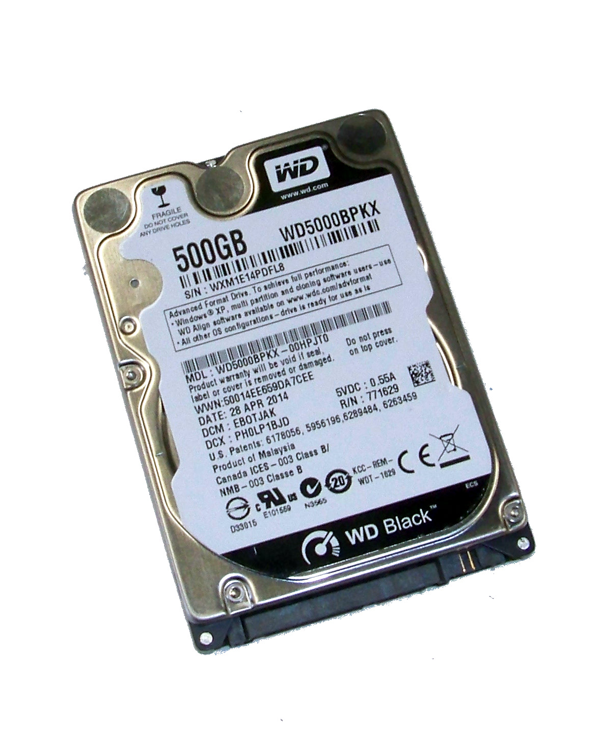 Wd Wd5000bpkx 00hpjt0 Wd Black 500gb 7 2k 2 5 Sata Hard Disk Drive Dcm Ebotjak 500gb Team Spares