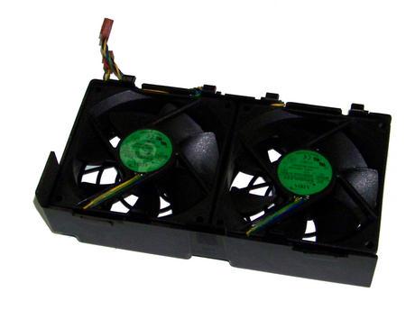 HP 349573-001 xw6200 xw6400 Dual Rear Case Fan Assembly | Adda AD0912UX-A7BGL Thumbnail 1