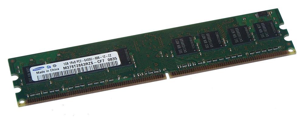 Samsung M378T2863RZS-CF7 (1GB DDR2 PC2-6400U 800MHz DIMM 240-pin) Memory Module