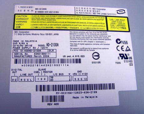 "Dell C3164 5.25"" IDE CD-RW DVD-RW Drive   ND-2100A Thumbnail 2"