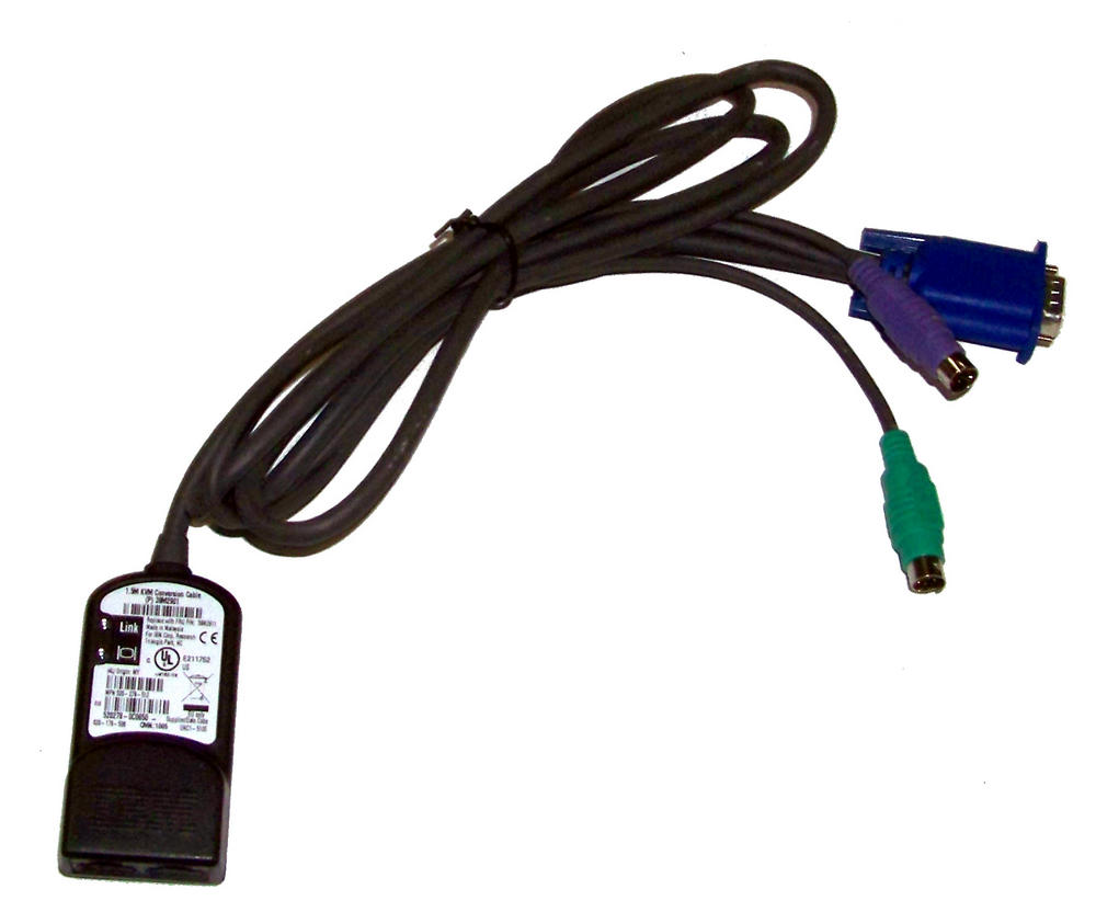 IBM 39M2901 Avocent 520-278-512 1.5m KVM PS/2 Conversion Cable | FRU 39M2911