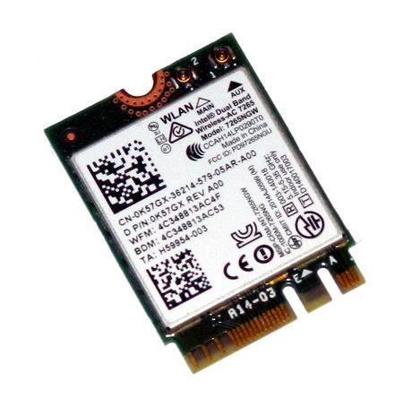 Dell K57GX Venue 7140 Pro Wireless-AC 7265 M.2 WiFi Card 7265NGW | 0K57GX