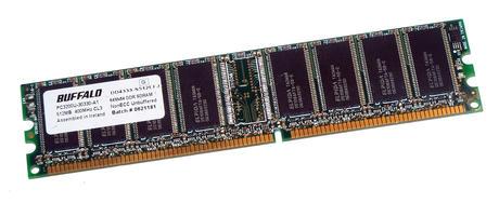 Buffalo DD4333-S512EFJ (512MB DDR PC2700U 333MHz 184-pin DIMM) RAM Module