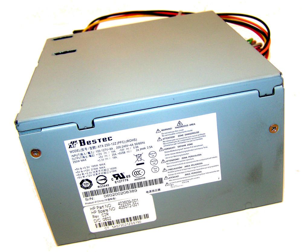 HP 403509-001 dx2200 MT 250W PFC Power Supply | ATX-250-12Z SPS 405072-001