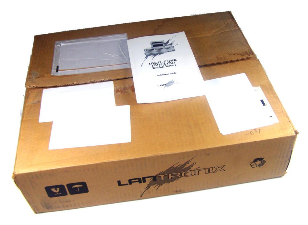 New LanTronix ETS16PR 16-port RS232 Terminal Server | Box Opened