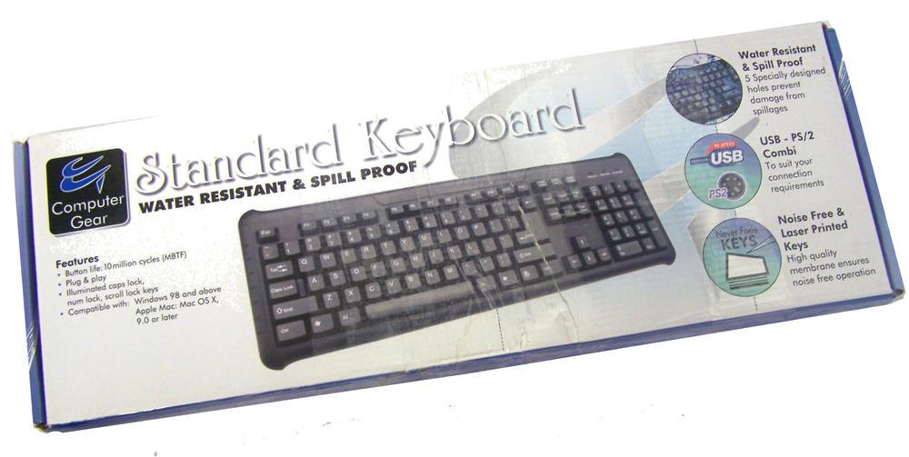 New Computer Gear 24-0226 Standard Keyboard | UK QWERTY BO
