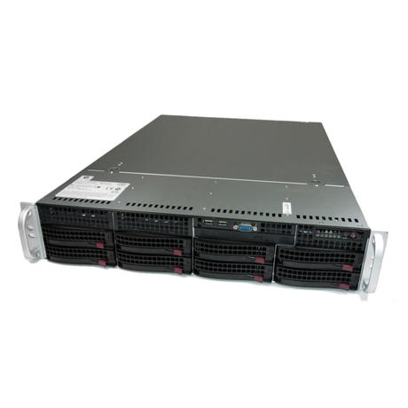 Supermicro 6026T-NTR+ 825-7 2U 2 x Six Core Xeon X5650 72GB RAM 8TB HDD Server