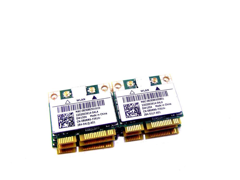 Job Lot of 6 x Dell 86RR6 Latitude E5530 E6330 Wireless-N DW1504 WiFi Card