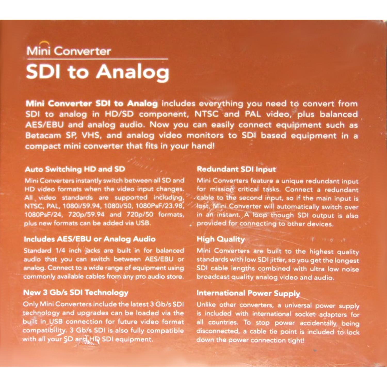 Details about Blackmagic Design CONVMASA Mini Converter SDI to Analogue