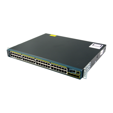 Cisco WS-C2960S-48FPS-L 48 Port 1U PoE+ Managed Switch With Ears