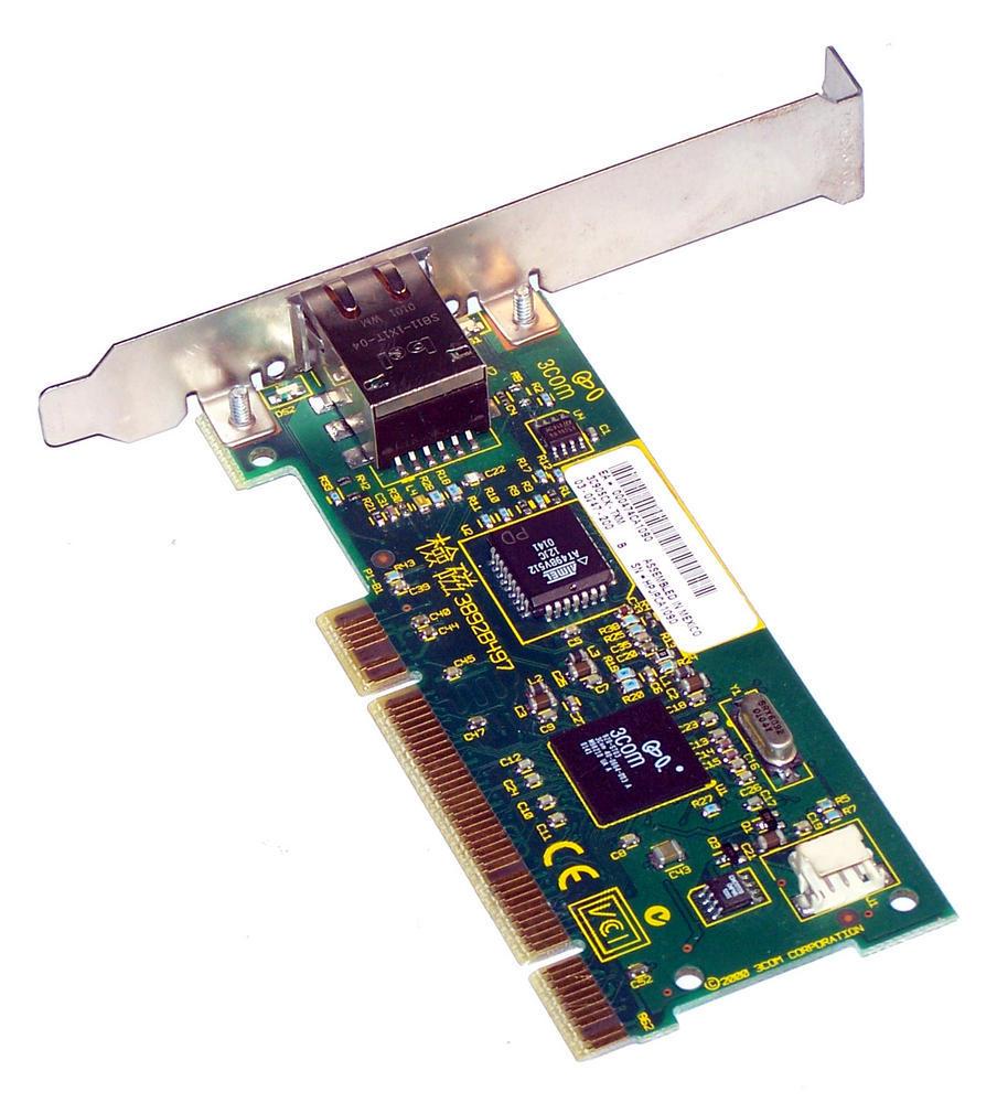 3Com 03-0247-200 3C905CX-TXM PCI 32-Bit 1-Port 10/100 Ethernet Card RJ45 Thumbnail 2