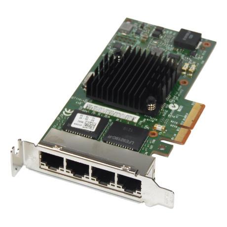 Dell 9YD6K Quad Port PCIe x4 Gigabit Network Card | Low Profile Thumbnail 1