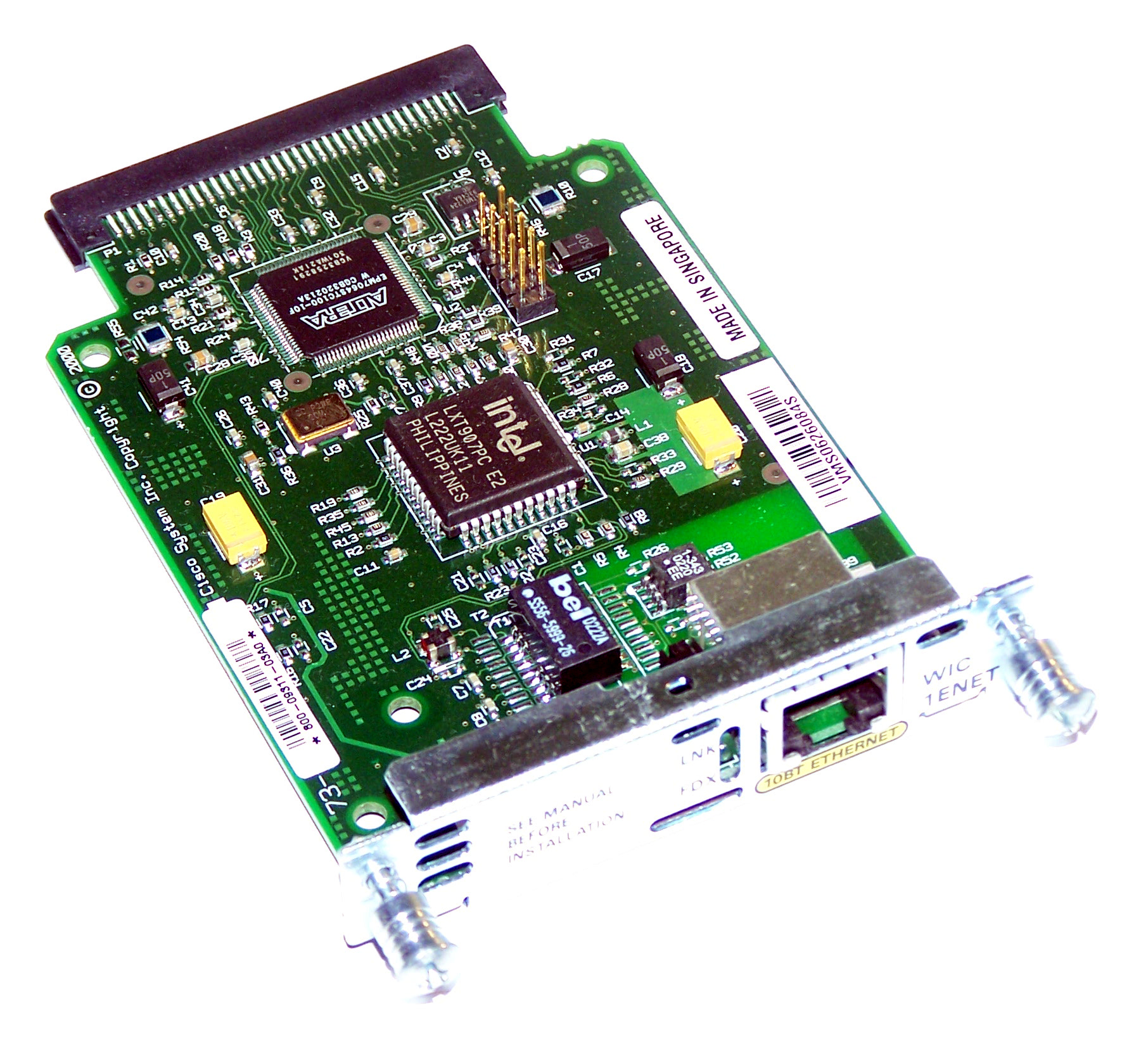 Cisco WIC-1ENET 10MBit Single Port RJ45 LAN Interface Card  WIC-1ENET=