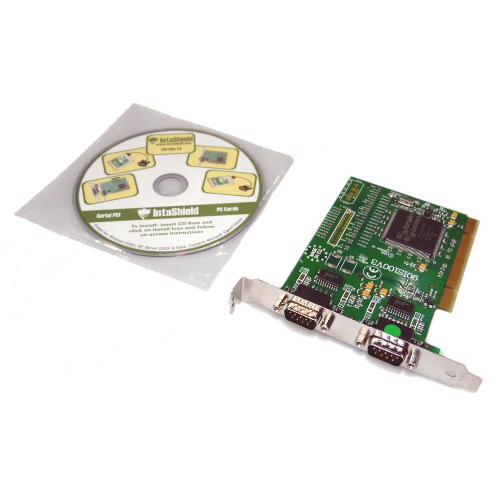 IntaShield PRODG6226 IS-200B 2-Port RS232 PCI Card