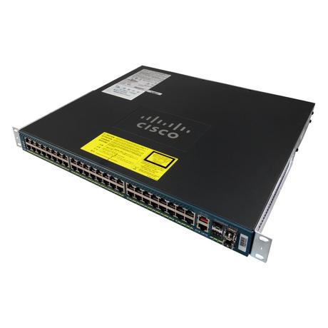 Cisco WS-C4948 48 Port Managed 1U Switch With Ears And 2 X 300w PSU