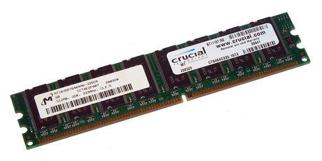 Crucial CT6464Z335.16T2 (512MB DDR PC2700U 333MHz DIMM 184-pin) 16C RAM 335CA Thumbnail 1