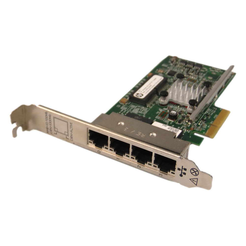 HP 647592-001 331T Quad-Port Gigabit PCIe x4 Ethernet Card 649871-001
