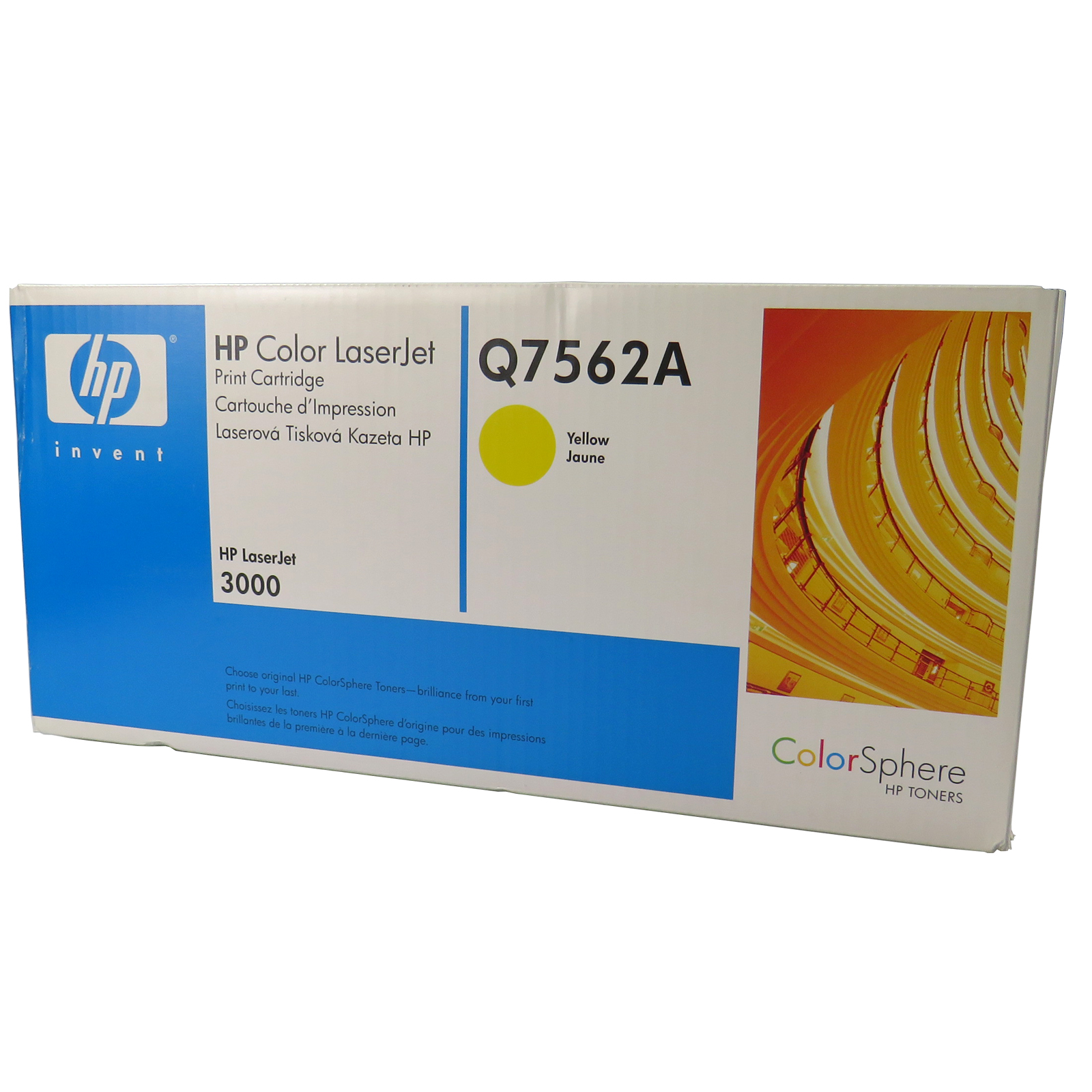 314A Black box Yellow Toner Cartridge LaserJet 3000 HP Q7562A OEM
