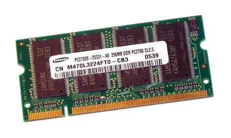 Samsung M470L3224FT0-CB3 (256MB DDR PC2700S 333MHz SO DIMM 200-pin) Memory