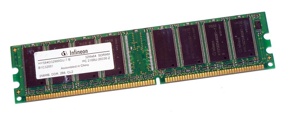 Infineon HYS64D32900GU-7-B (256MB DDR PC2100U 266MHz DIMM 184-pin) Memory