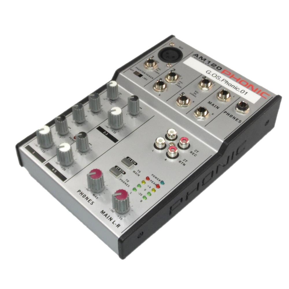 Phonic AM120 1-Mic/Line 2-ST Input Mixer