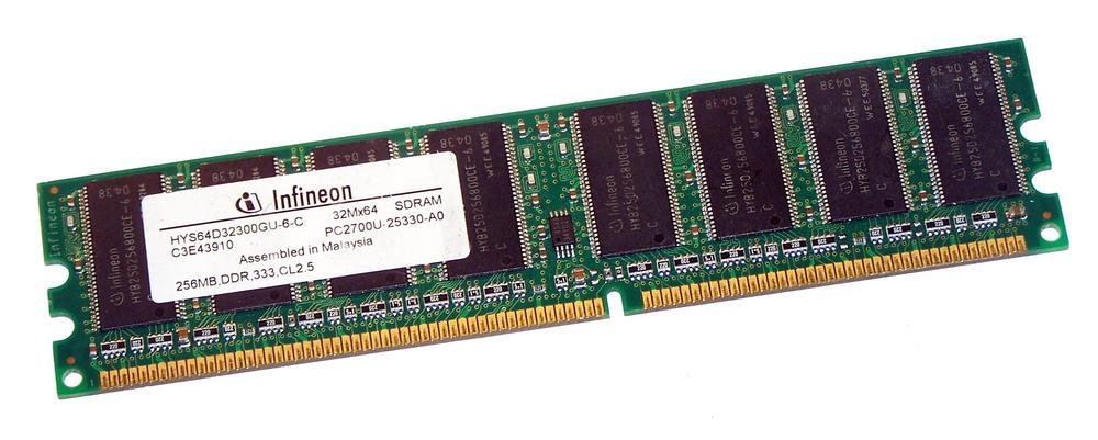 Infineon HYS64D32300GU-6-C (256MB DDR PC2700U 333MHz DIMM 184-pin) Memory
