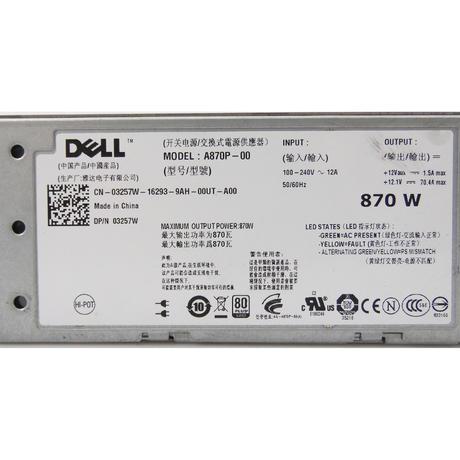 Dell 3257W PowerEdge T610 870W Redundant Power Supply  Thumbnail 2
