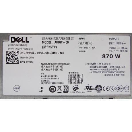 Dell VT6G4 PowerEdge T610 870W Redundant Power Supply  Thumbnail 2