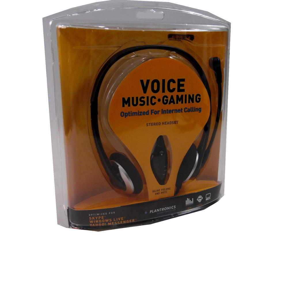 New In Box Plantronics Gaming Music Voice Headset 80933-05