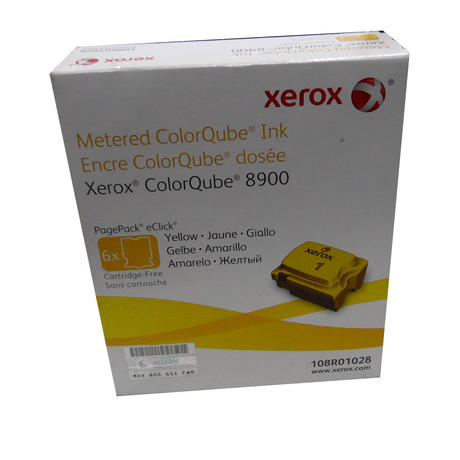 New In Original Box Xerox 108R01028 ColorQube 8900 Yellow/ Pack Of 6 Cubes
