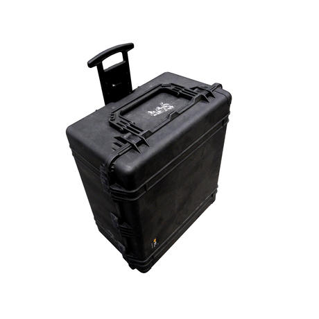 Peli 1690 Hard Protection Black Case With 4 Strong Polyurethane Wheels And Foam Thumbnail 2