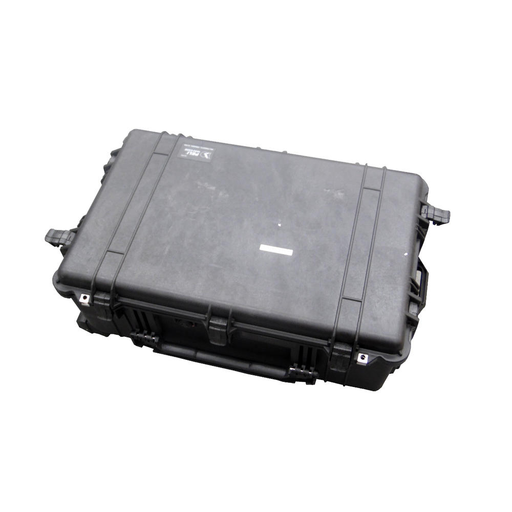Peli 1650 Hard Protection Black Case With 4 Strong Polyurethane Wheels And Foam