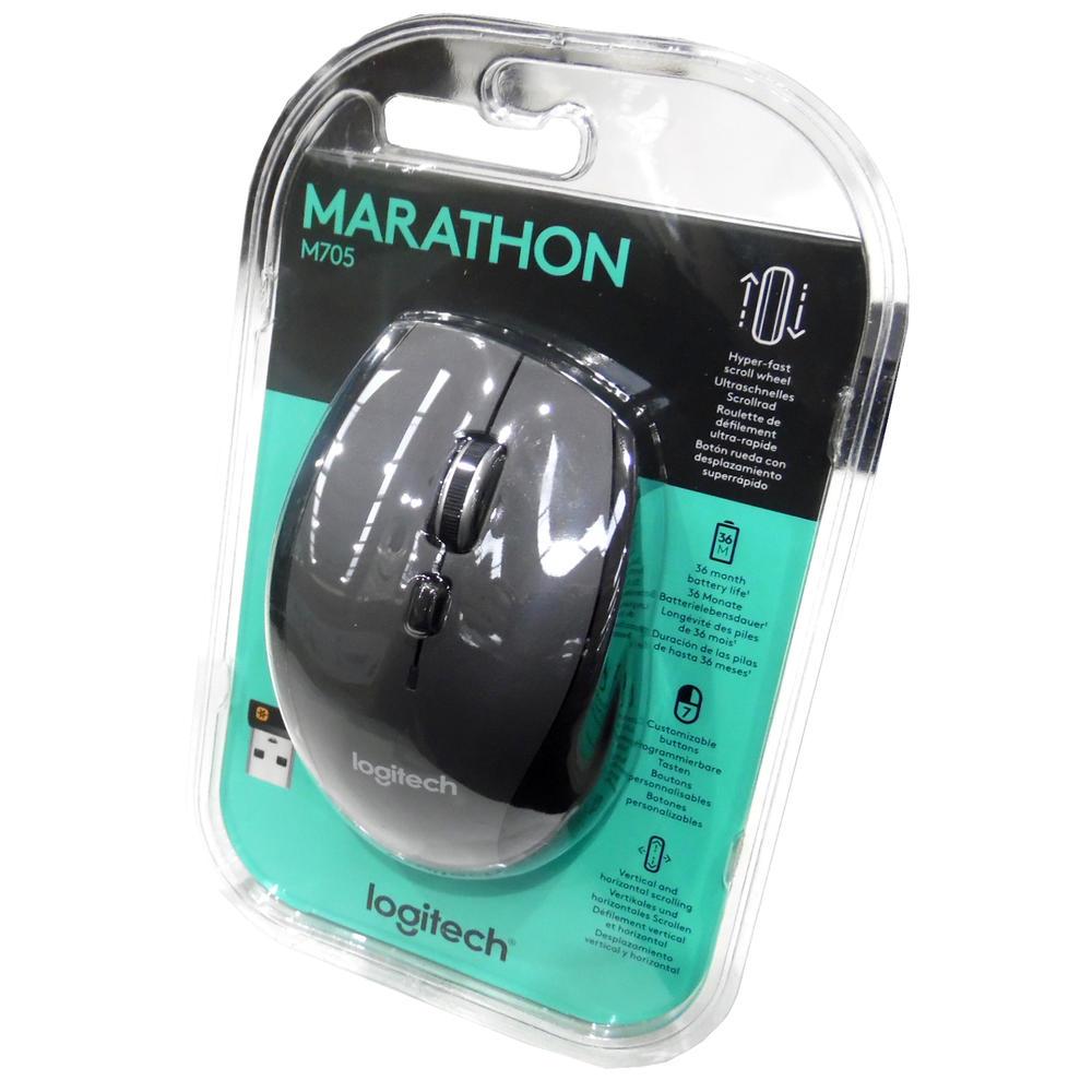 New In Original Box High Quality Logitech Marathon M705 Wireless Computer Mouse