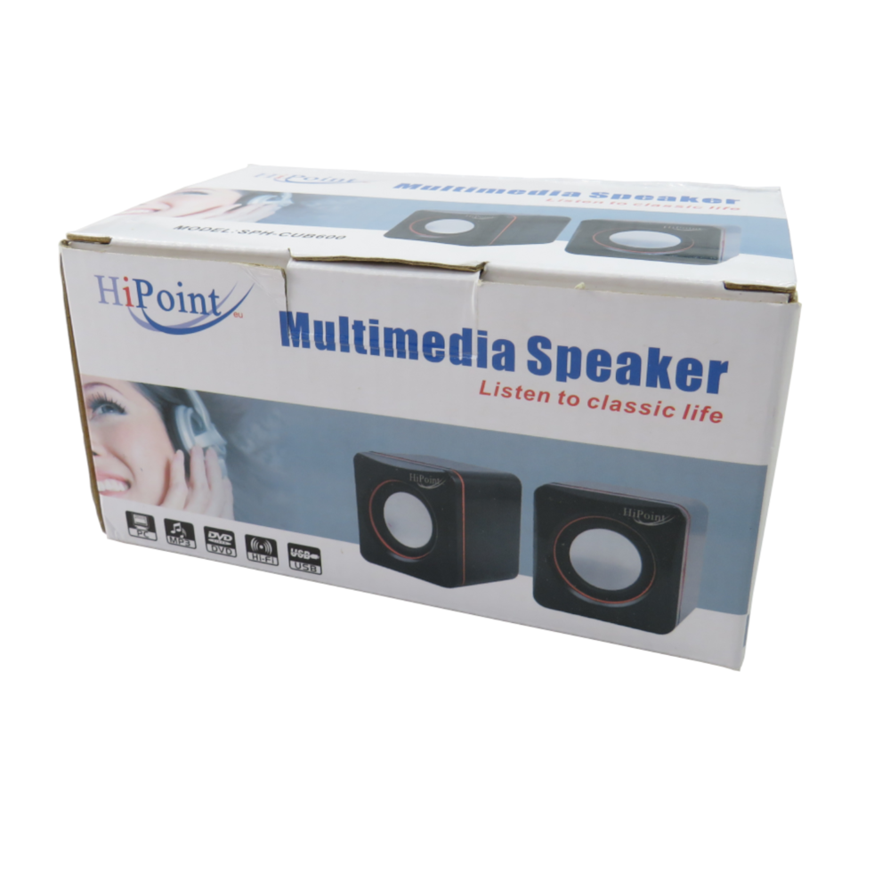HiPoint SPH-CUB600 Multimedia Speakers 3.5mm USB 2.0