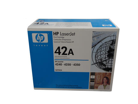 New In Box HP Q5942A Original LaserJet 4240 Toner Cartridge Black
