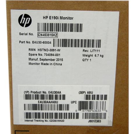 Brand New HP EliteDisplay E190i 18.9-inch 5:4 LED Backlit IPS Monitor Thumbnail 3