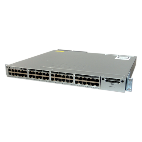Cisco WS-C3850-48P 1U Managed Switch With Ears And 1 x C3850-NM-4-1G Module