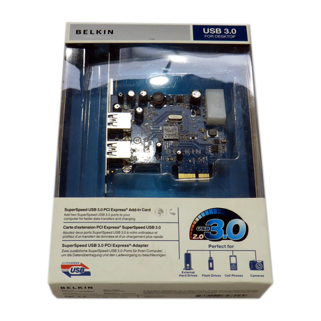 Brand New Belkin SuperSpeed USB 3.0 PCI Express Add-In Card