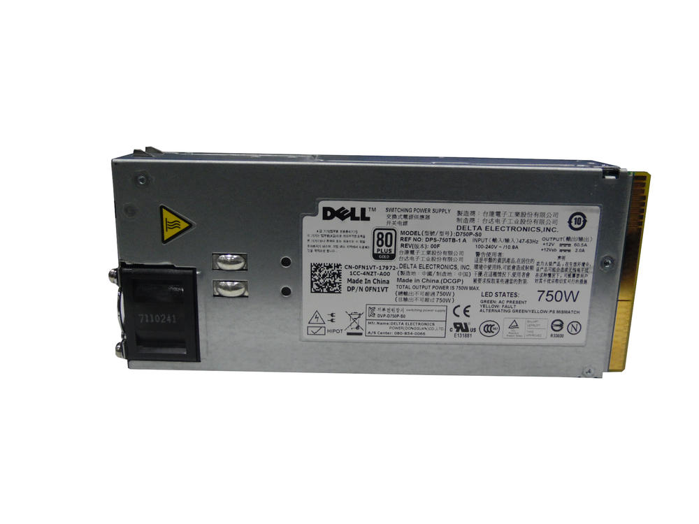 Dell FN1VT 750W For PowerEdge R510 Power Supply