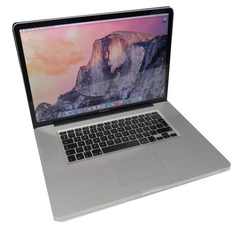 """Apple A1297 MacBook Pro 17"""" Late 2011  i7-2760U @ 2.4GHz 16GB 750GB Yosemite A-"""