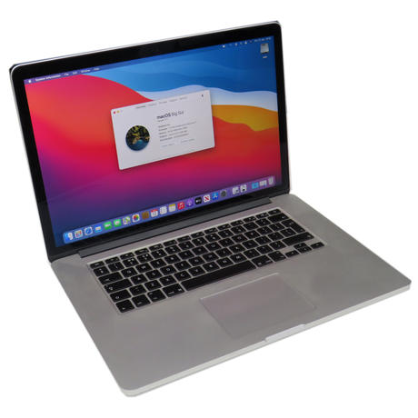 """Apple MacBook Pro 15.4"""" Mid 2015 A1398 i7-4870HQ 2.50GHz 16GB 500GB Big Sur B+"""