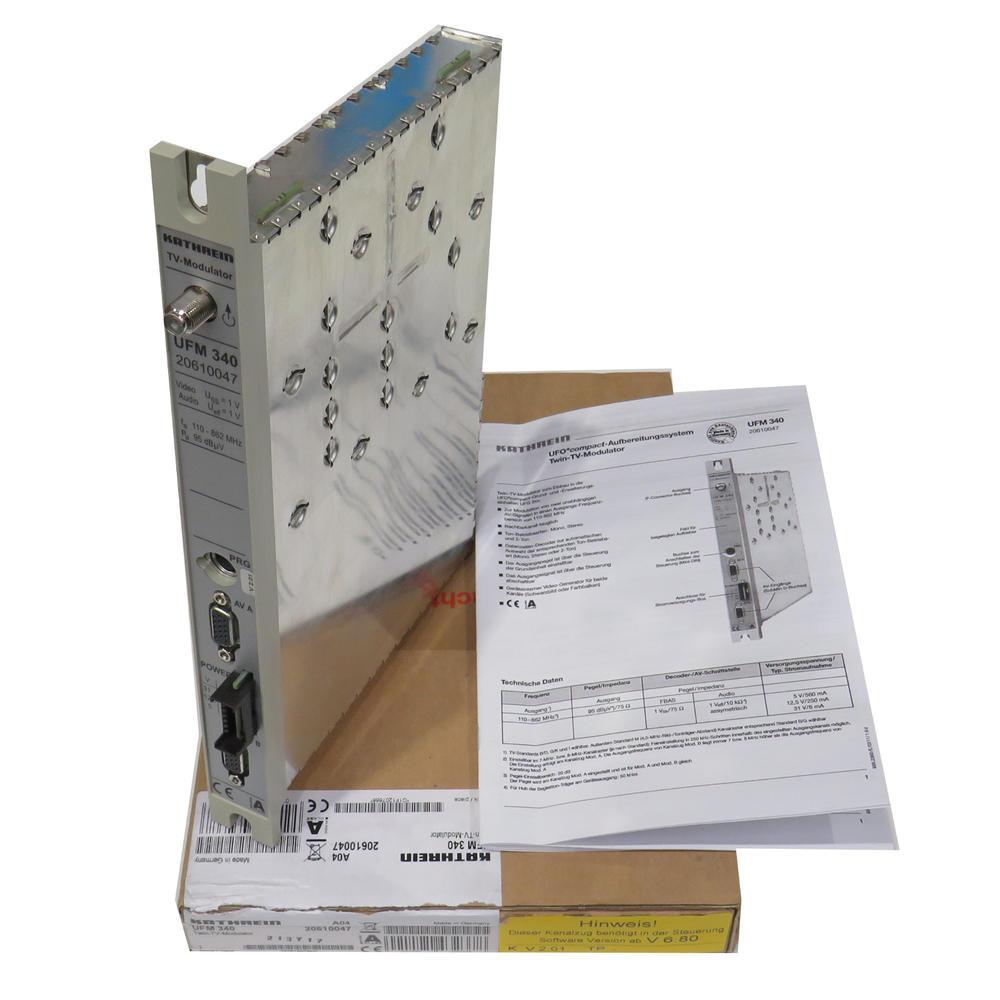 Kathrein UFM 340 20610047 Twin TV Modulator Purification System