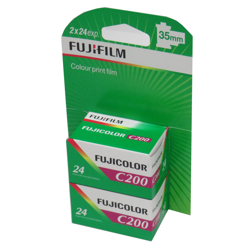 Fujifilm Fujicolor C200 Colour 24 Exposure 35mm Film - 2 Pack