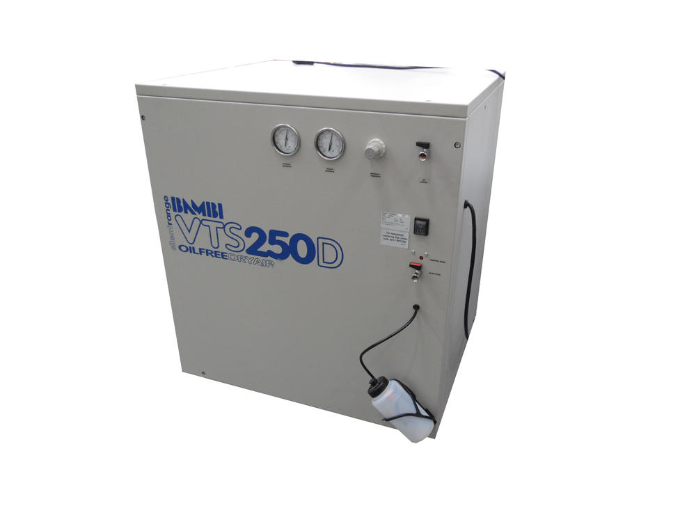 Bambi VTS 250D Ulta Silent Air Compressor | Oil Free | Dry Air With Bottle