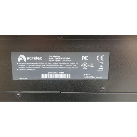 Acrelec TDS-32F-PUK-31B-C 32 Inch Touch Screen Monitor With Chip  Thumbnail 3