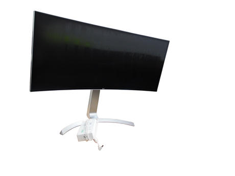"""LG 34UC99-W 34"""" IPS Curved Monitor And Stand 
