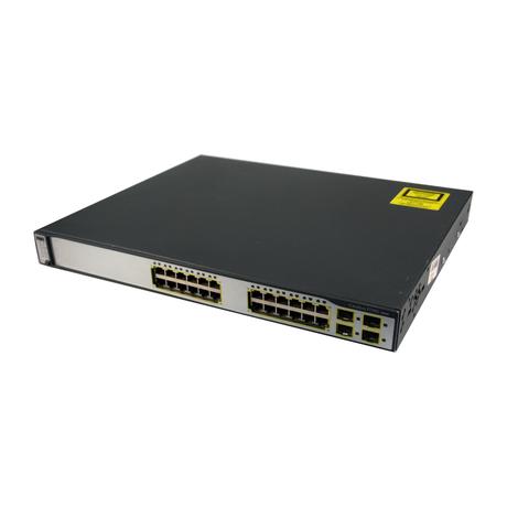Cisco WS-C3750G-24TS-S1U 24 Port 1U Managed Switch With Ears
