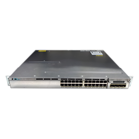 Cisco WS-C3750X-24T-S 24 Port 1U Managed Switch With 1 x 350W PSU + C3KX-NM-1G