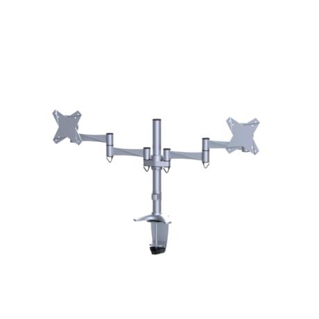 "NewStar FPMA-D1330DSILVER Dual Flat Screen Desk Mount 10""-27"" Thumbnail 2"